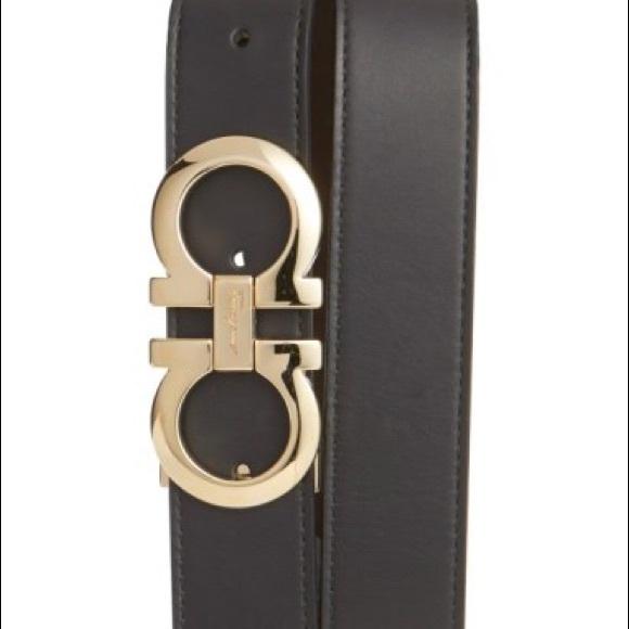 ba29a6d21b5 Ferragamo Reversible Adjustable Gancini Belt. M 5aeb2cca3a112e9db6b52f90